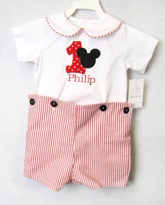 1st Birthday Boy Outfit Mickey Mouse First 292618
