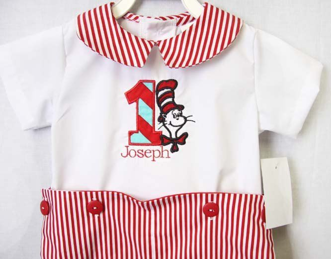Cat In The Hat Birthday 1st Outfit Boy Baby First 292333