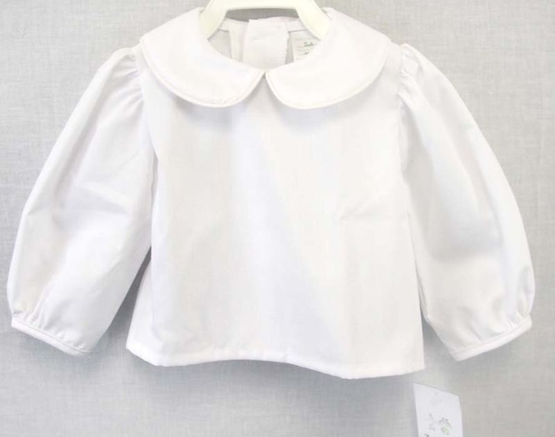 799f0760 Peter Pan Collar, Infant Girl Clothes, Baby Girl White Shirt, Twin Baby  Clothes