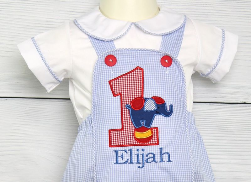 Circus First Birthday Outfit 1st Boy Baby Shirt 293426