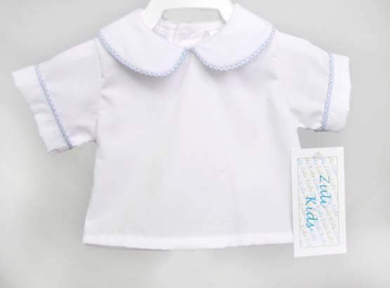 ceafc2c2130c6 Peter Pan Collar Baby Shirt, Infant Boy Shirt, Neutral Baby Clothes, Baby  White Shirt 292910