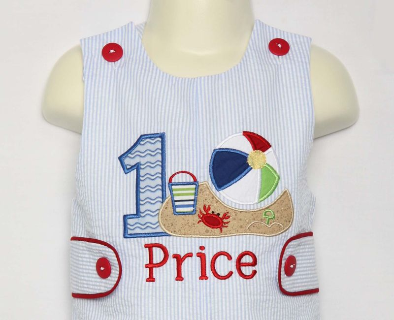 Beach Birthday Party Baby Boy First Outfit 1st Cake Smash 293432