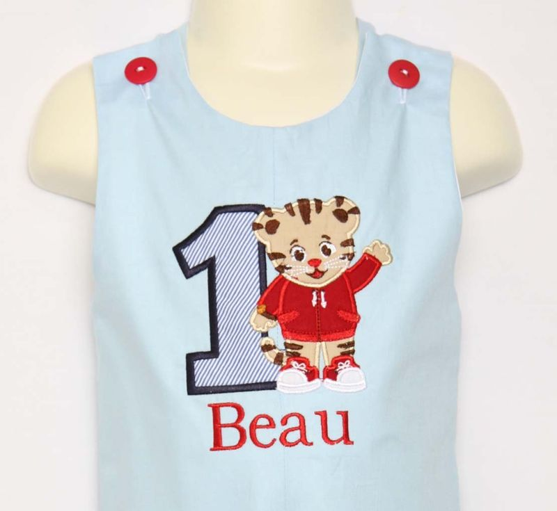 Baby Boy First Birthday Outfit Daniel Tiger Shirt 292794