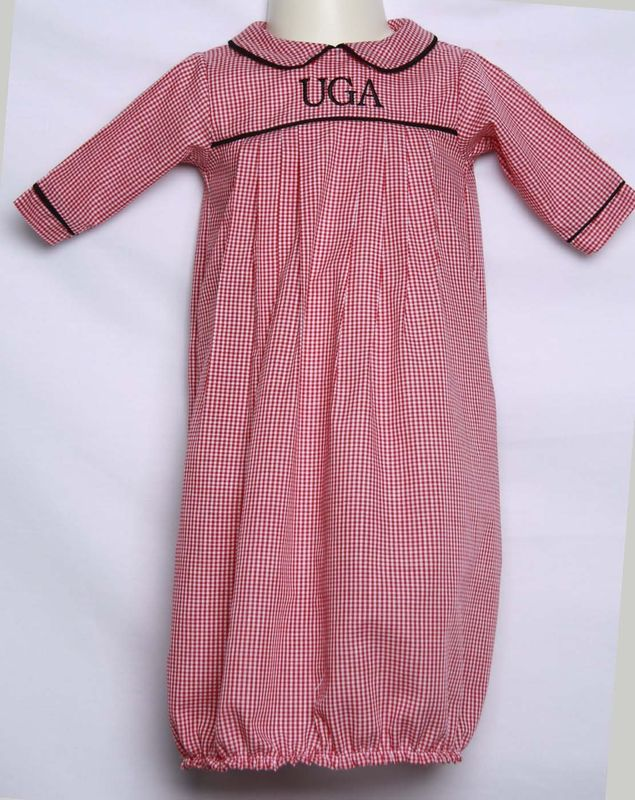 new arrivals c91e9 fa764 UGA Baby Gown, University Georgia Bulldog Inspired, Personalized Baby  Shower Gift 292354