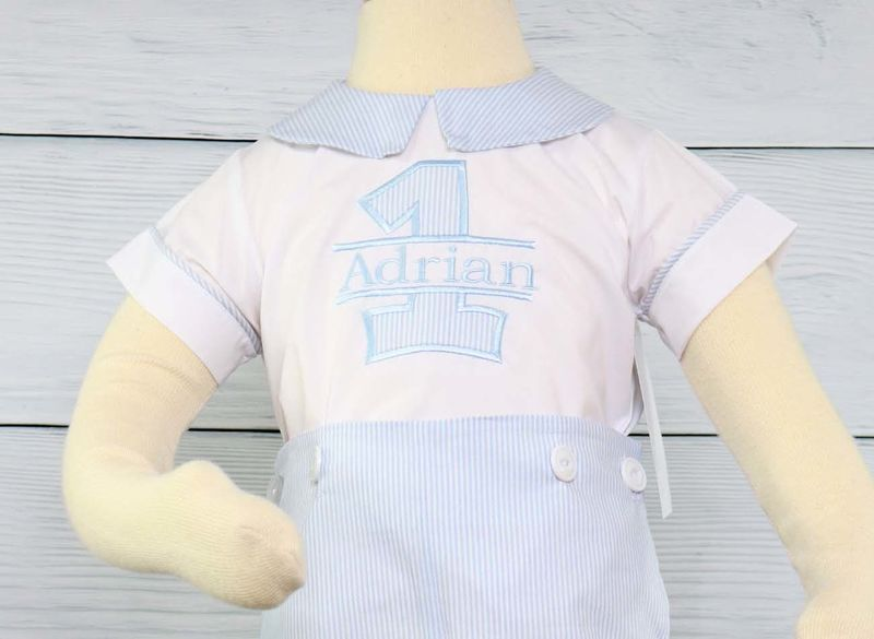 1st Birthday Boy OutfitFirst First Outfit Shirt Boys Baby Clothes 292984
