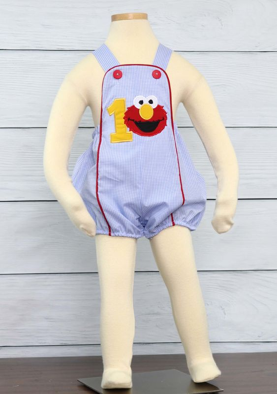 Baby Boy First Birthday Outfits Elmo Shirt 293033