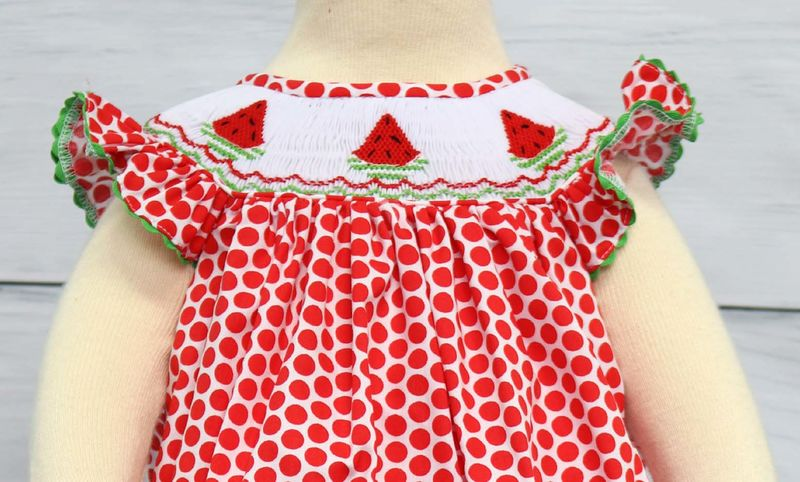 46a986fa3 Baby Girl Summer Dresses, Baby Girl Clothes, Smocked Bishop Dress 412140  -A140