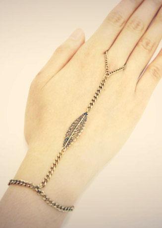 Brass Hand Bracelet Hand Chain Lovmely