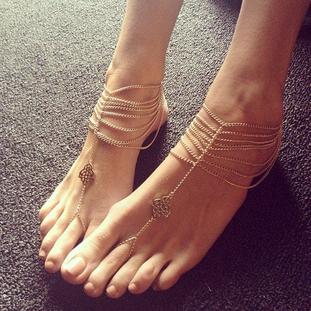 Katy Anklet Gold Chain Foot Anklet Available In Gold Or
