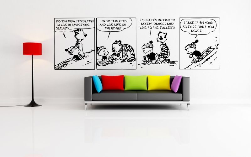 CALVIN and HOBBES | LIVE LIFE ON THE EDGE - product images of  sc 1 st  sticky edge & CALVIN and HOBBES | LIVE LIFE ON THE EDGE - STICKYEDGE