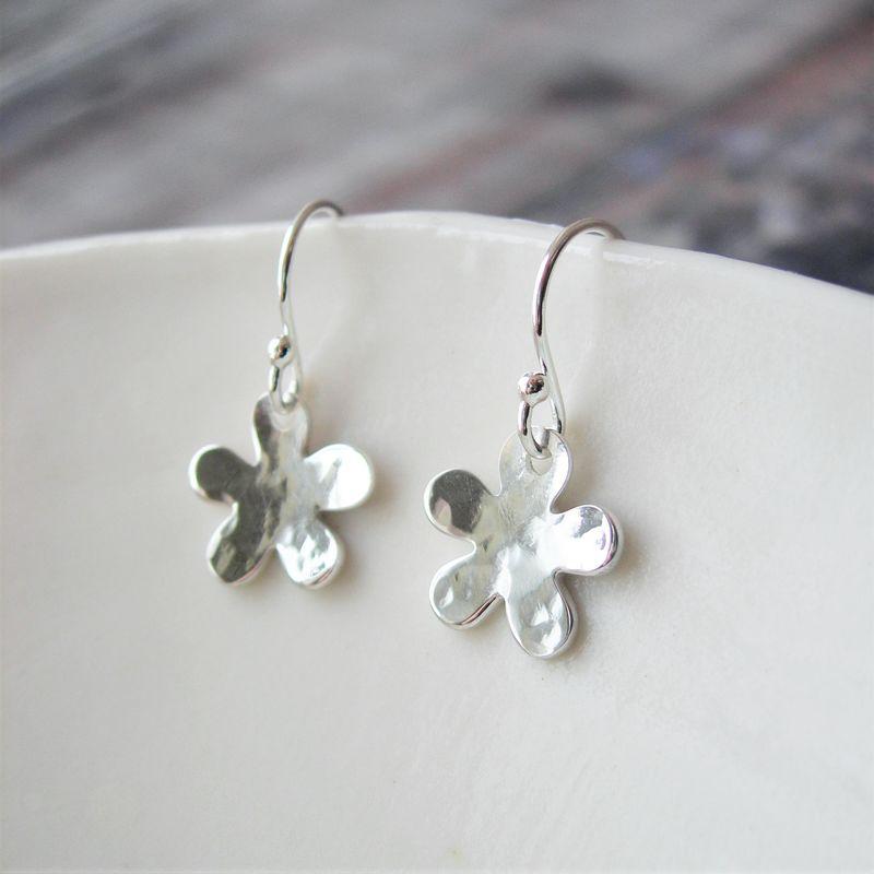 Silver Little Flower Earrings