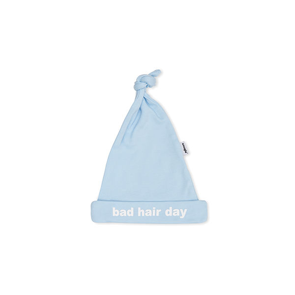 BAD HAIR DAY cute blue baby hat - RawLuxe eb6306db4a35