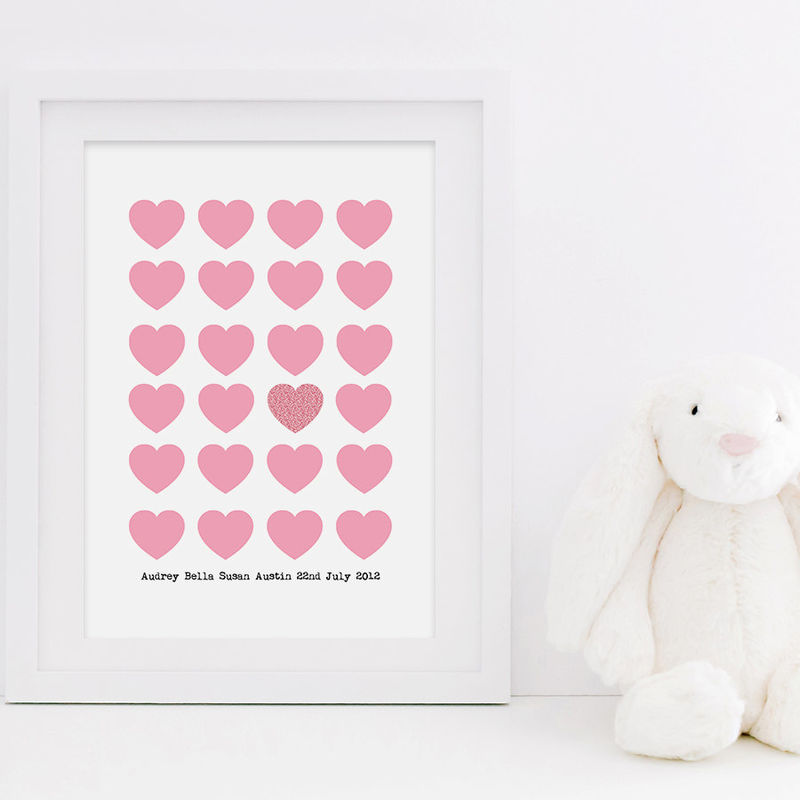 New Baby Love Heart Print New Baby Print Baby Boy