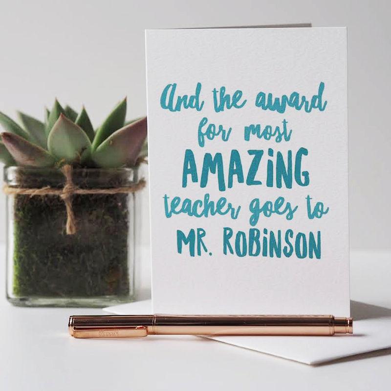 amazing teacher card  thank you teacher card  thank you
