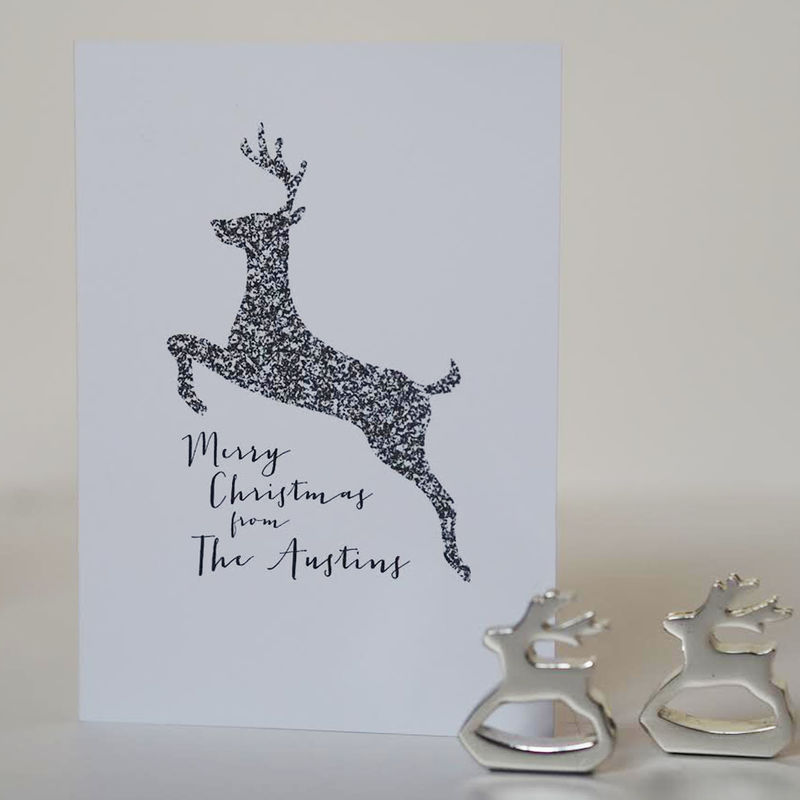 Reindeer Christmas Cards.Reindeer Family Christmas Card Personalised Family Christmas Card Reindeer Christmas Card Family Christmas Personalised Card