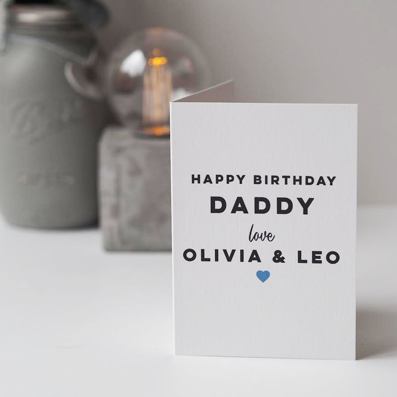 Personalised Happy Birthday Card For Daddy