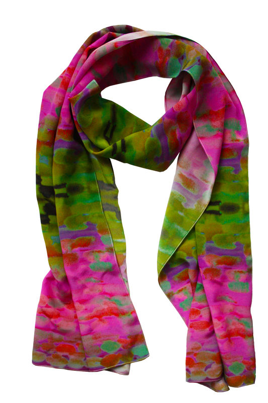 paint silk scarf  60 digitally printed silk scarf featuring an  Silk Scarves Painting Uk