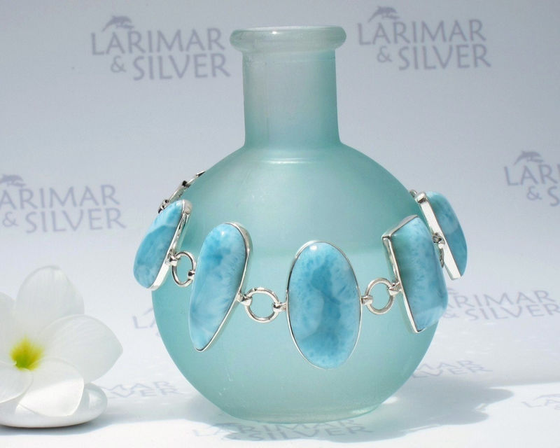 Sold Out Larimar Cuff Bracelet By Larimarandsilver Turquoise Feelings Aqua Stones Links Handcrafted