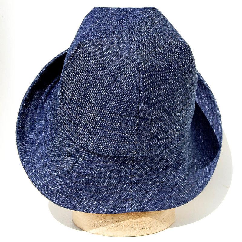 Denim sun hat ZUTmarguerite - ZUT hats 8b374c118c2