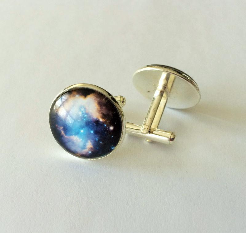 NEBULA CUFFLINKS / Nebulae Cuff Links / Cool Gift for Him ...