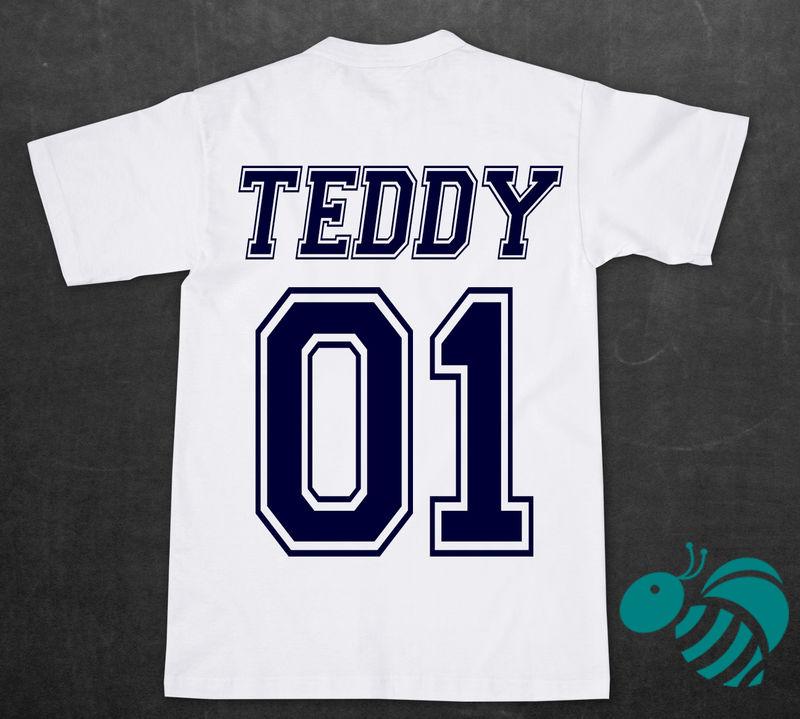 Varsity Letterman Name Number T Shirt