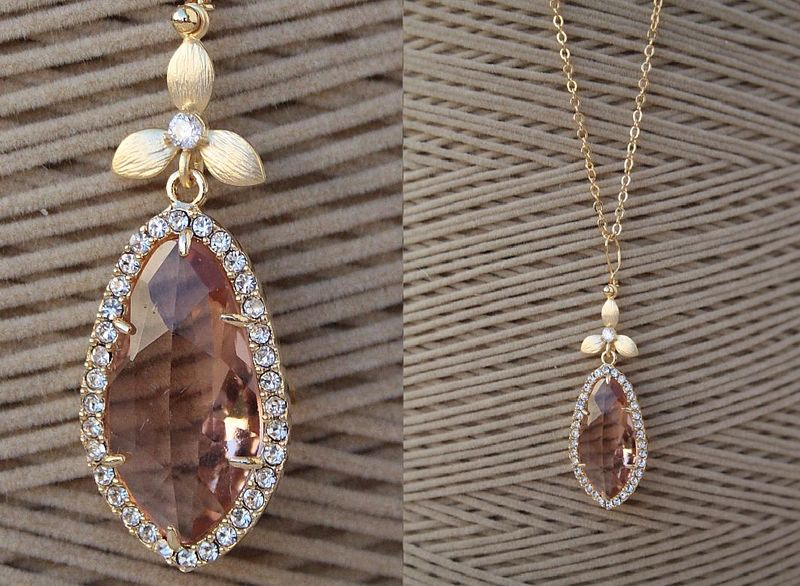 vendita calda online 8379d 95e62 collana Jacqueline Kennedy rosa antico