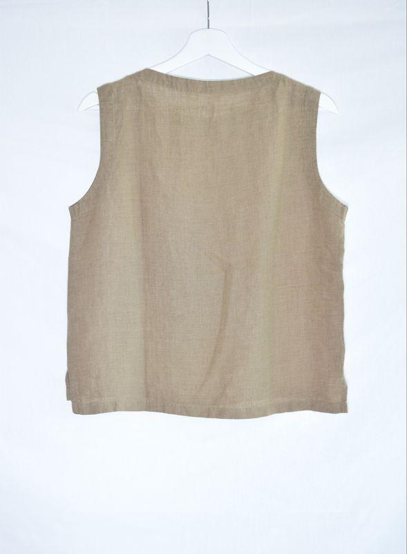 8d7202b381 Linen Boat neck Top Vest - product images of