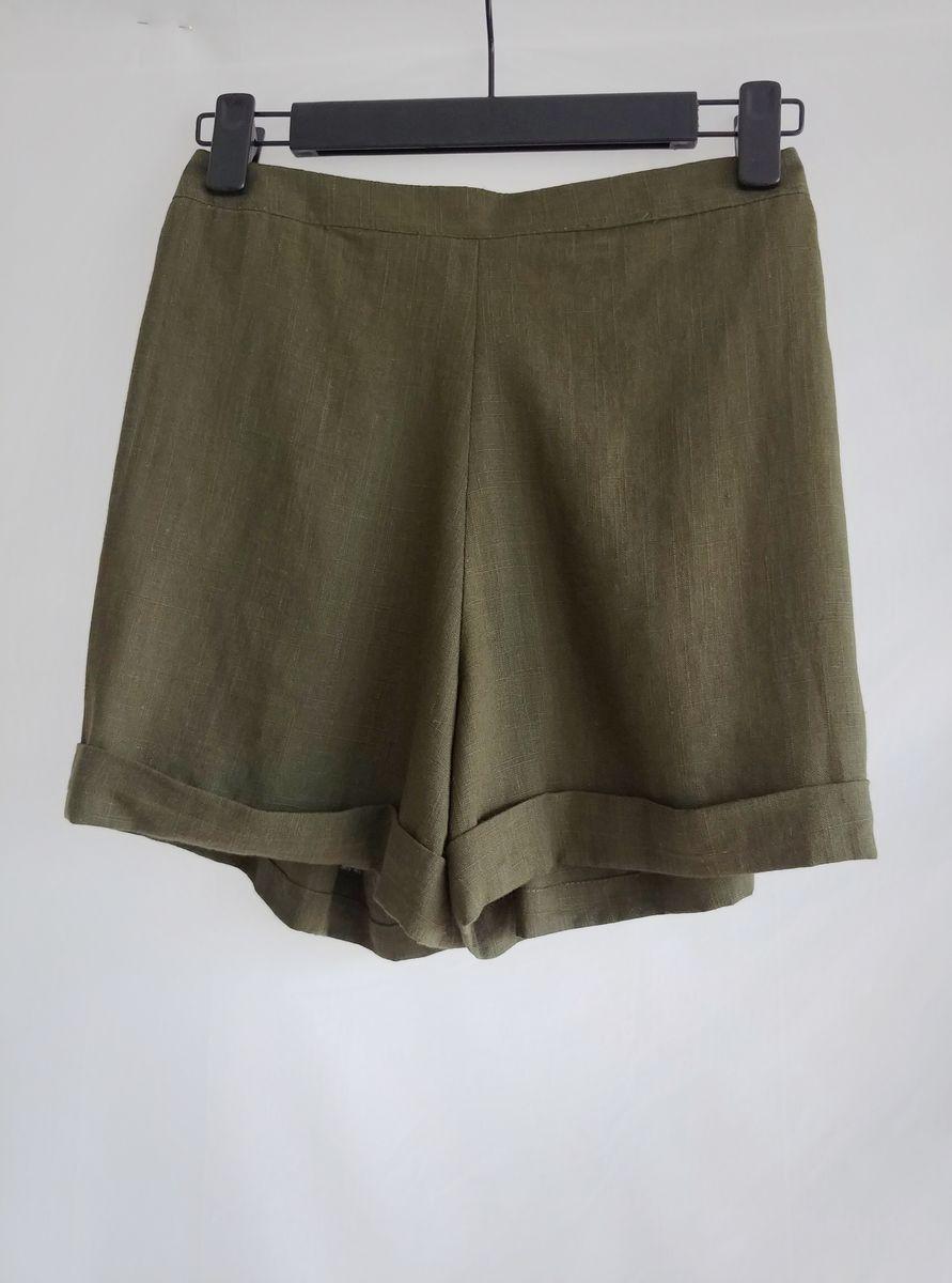 New Silk Hemp Woven Shorts Moss Green - JJ Marketplace