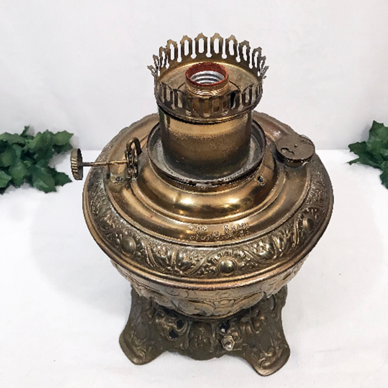 Antique 1890's Juno Brass Victorian Parlor Light