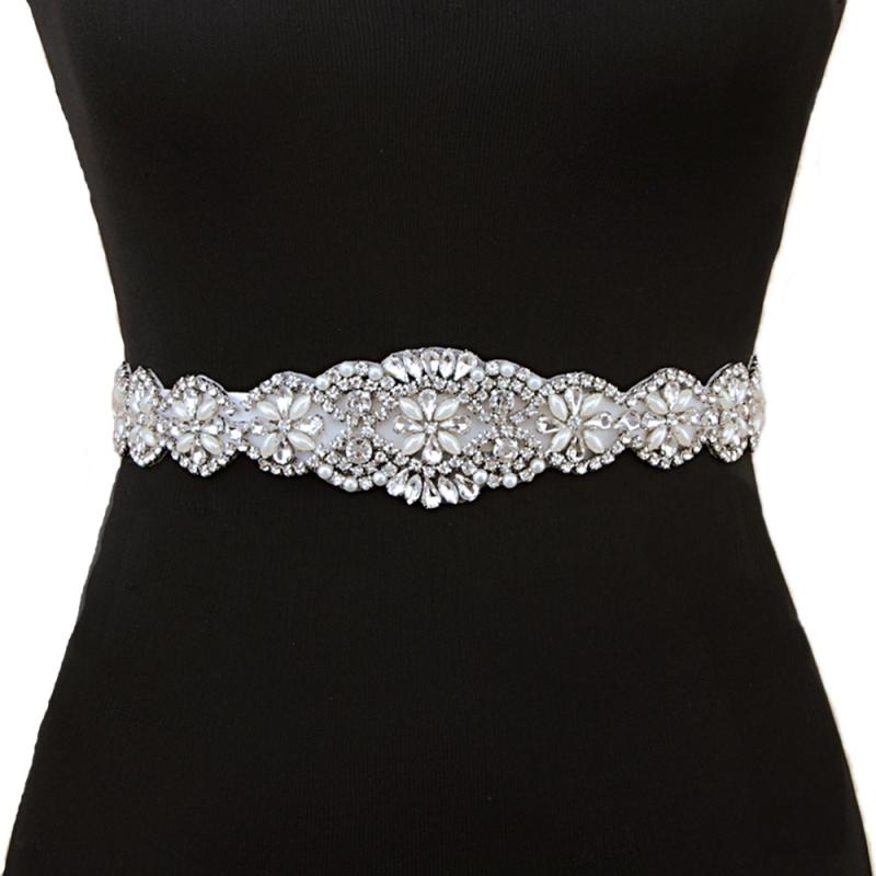 3d2b405b1 Long crystal wedding dress bridal sash - TiarasAndTeirs