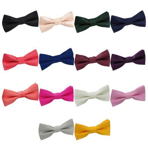f34c5bf350a5 Solid check groomsmen pre tied wedding bow ties - TiarasAndTeirs