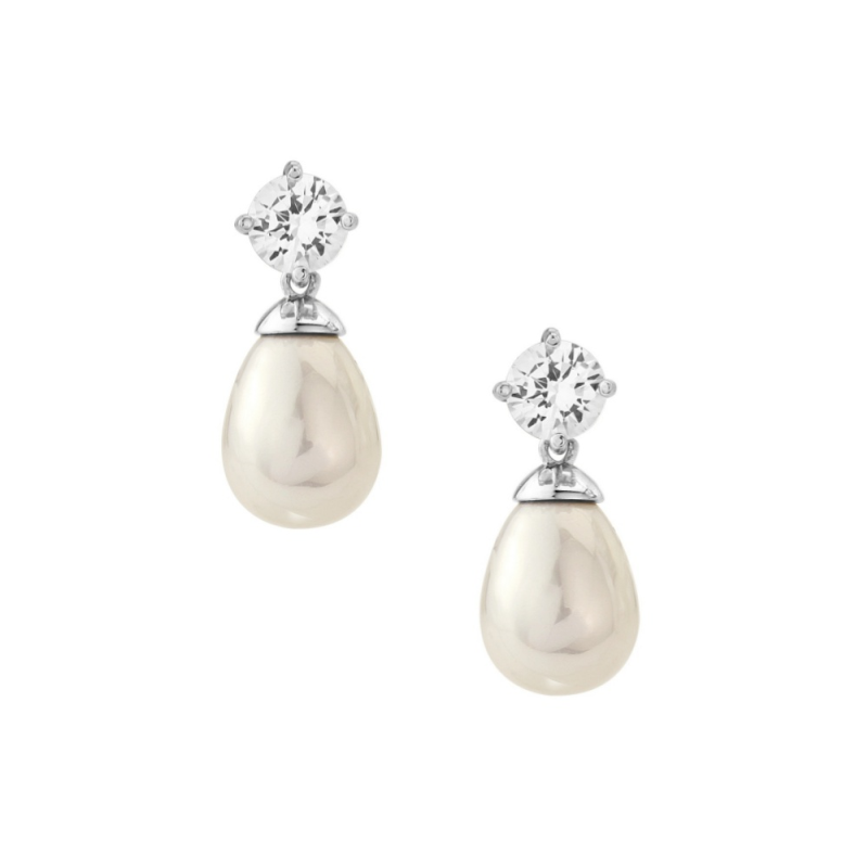 3 Bridesmaid Pearl And Cubic Zirconia Wedding Jewellery Sets