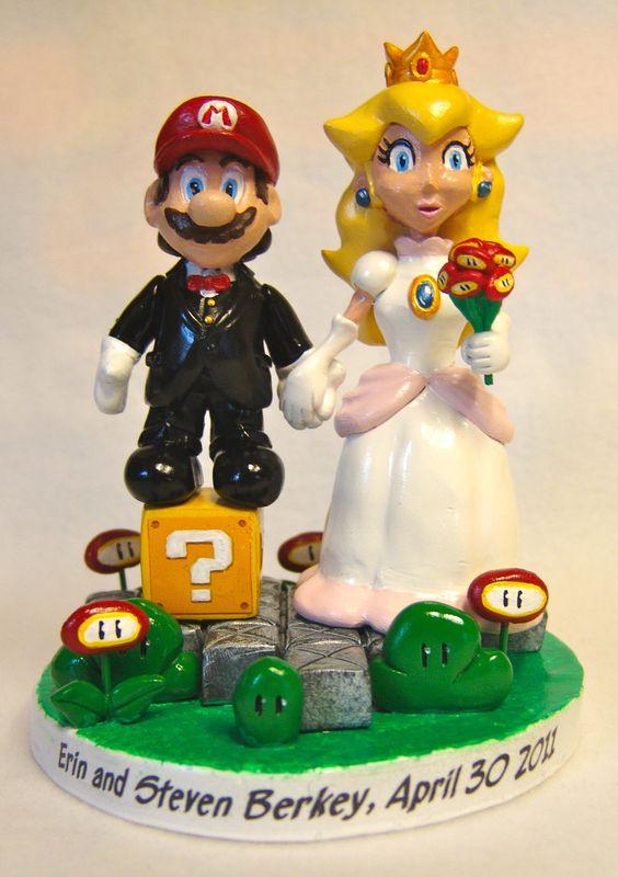 Mario Amp Princess Peach Cake Topper Paul Pape Designs