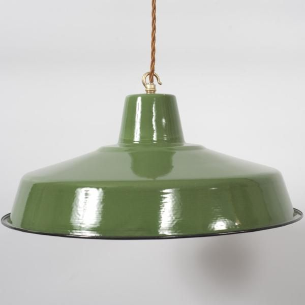 55783d9a780d factory enamel lampshade - The Vintage Industrial