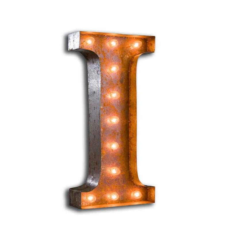 Letter Light I The Vintage Industrial