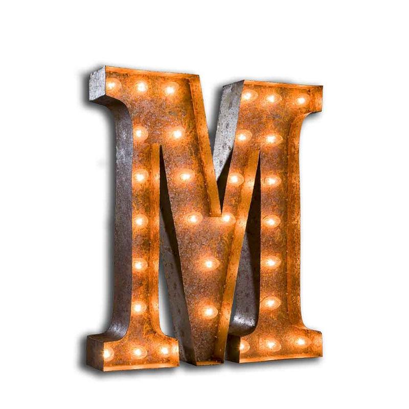 Letter Lights M The Vintage Industrial