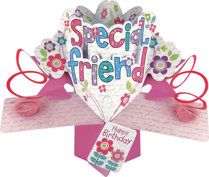 Second Nature Pop Ups - Special Friend (Flowers)