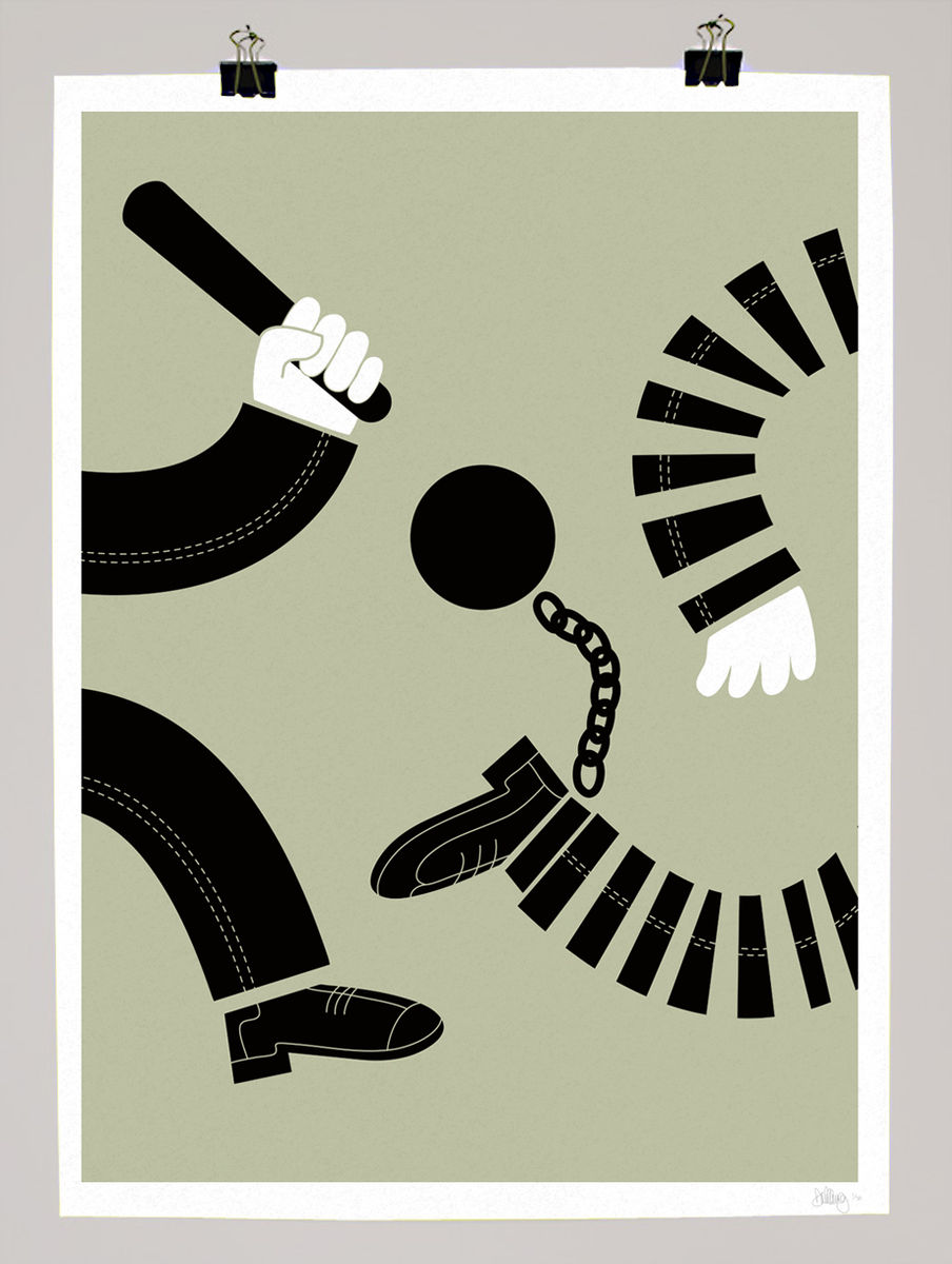 crime punishment little red dots edition prints by  limited edition art prints by graphic artist and illustrator dale edwin murray