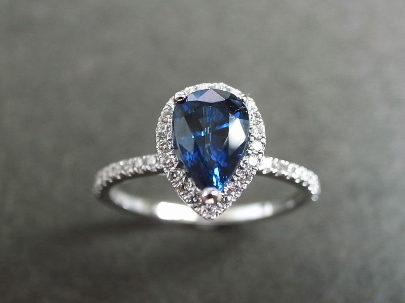 Blue Sapphire Diamond Ring Hn Jewelry