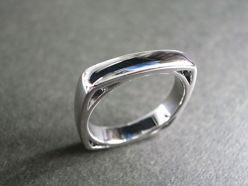 Men S Diamond Square Ring Hn Jewelry