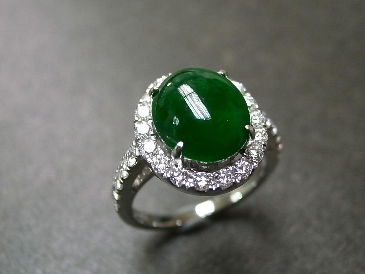 Jade And Diamond Engagement Rings