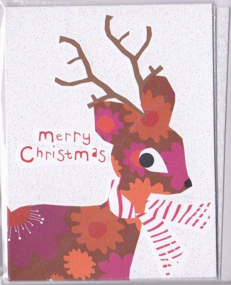 Reindeer Christmas Cards.Pack Of Reindeer Christmas Cards