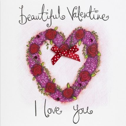 Hand Finished Beautiful Valentine Valentine S Day Card Karenza Paperie