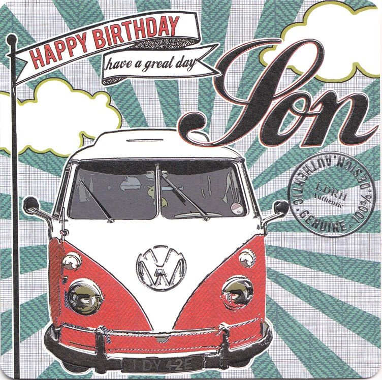 Hand Finished Son Birthday Card