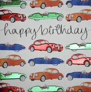 Vintage Cars Birthday Card