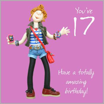 Girls 17th Birthday Card