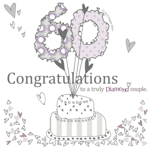 60th Wedding Anniversary Gifts For Friends: Diamond Couple 60th Wedding Anniversary Card