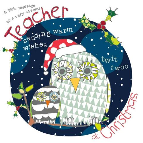 Christmas Cards For Teachers.A Little Message To A Very Special Teacher Christmas Card