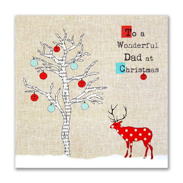 Hand Finished Wonderful Dad Christmas Card