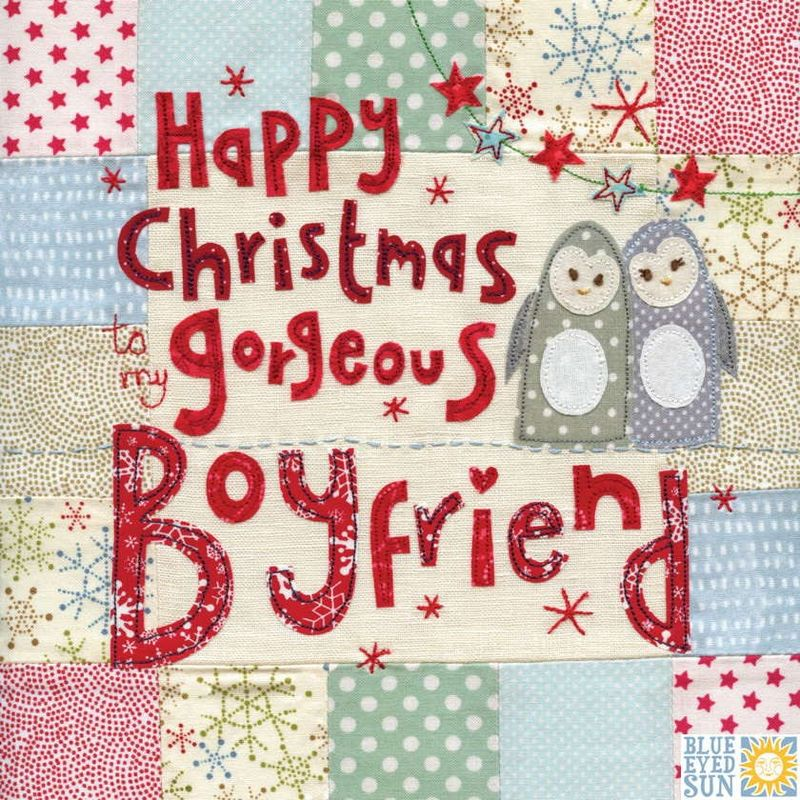 To My Gorgeous Boyfriend Christmas Card